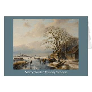 Cartão tradicional do ano novo da paisagem do