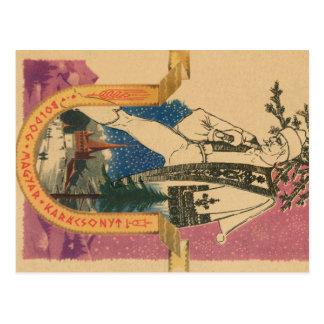 Cartão tradicional do Xmas do Hungarian Cartão Postal