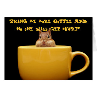 Cartão Traga-me mais café