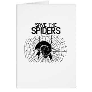 Cartão Traje da Web de aranhas das economias do Dia das