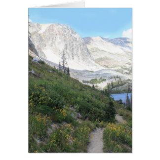 Cartão Trajeto ao lago Marie