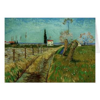 Cartão Trajeto através do campo com salgueiros, Vincent