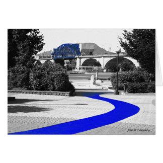 Cartão Trajeto azul do tijolo