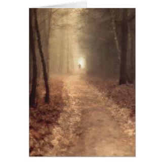 Cartão Trajeto do outono