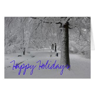 Cartão Trajeto nevado, boas festas
