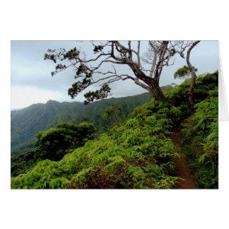Cartão Trajeto sobre as montanhas de Koolau