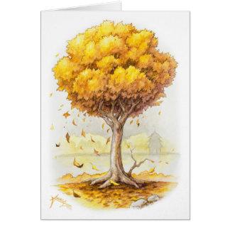 Cartão Tranquilidade dourada