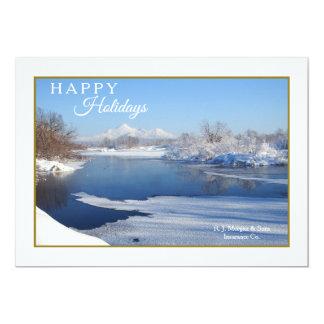 Cartão tranquilo do feriado da cena do inverno