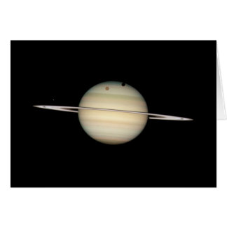 Cartão Trânsito quádruplo da lua de Saturn