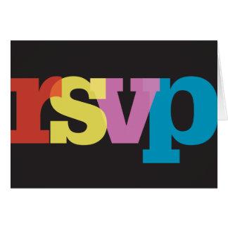 Cartão transparente do Serif RSVP