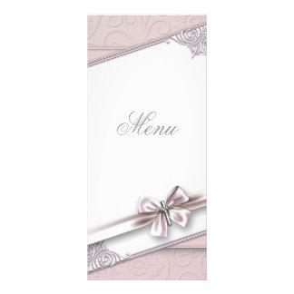 Cartão transversal cor-de-rosa bonito do menu 10.16 x 22.86cm panfleto