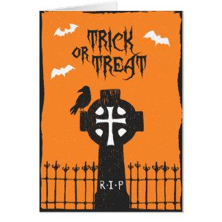 Cartão transversal do Dia das Bruxas