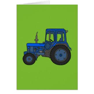 Cartão Trator azul
