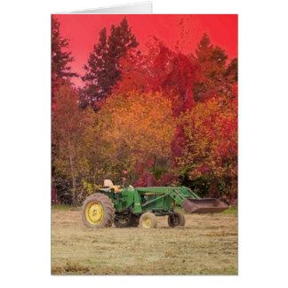 Cartão Trator de fazenda
