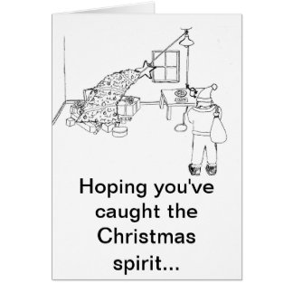 Cartão Trave a captura do cumprimento do espírito B&W