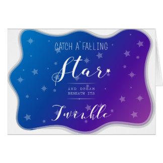 Cartão Trave uma estrela de queda