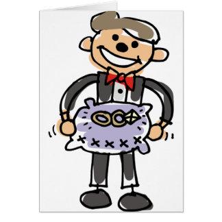 Cartão Travesseiro das alianças de casamento de