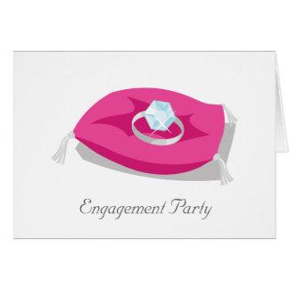 Cartão travesseiro, festa de noivado