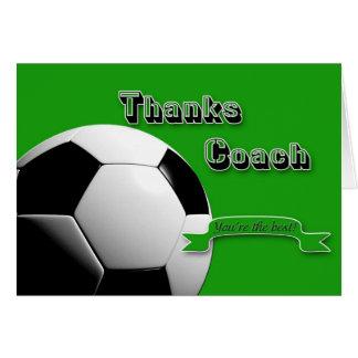 Cartão Treinador do futebol de GreenThanks
