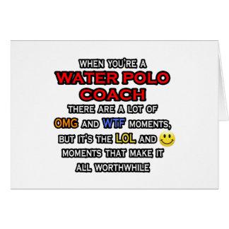 Cartão Treinador engraçado… OMG WTF LOL do pólo aquático