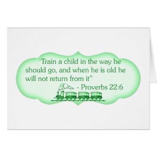 Cartão Treine uma criança