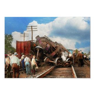 Cartão Trem - acidente - cabeças de terminação 1922