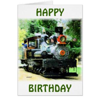 Cartão trem americano do vapor