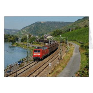 Cartão Trem de carga em Lorch à reno