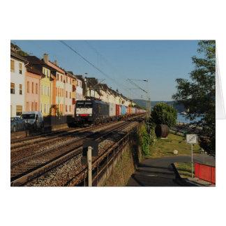 Cartão Trem de carga em Lorchhausen à reno