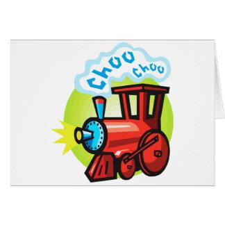 Cartão Trem de Choo Choo