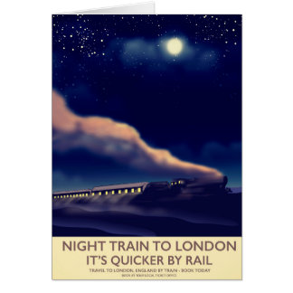 Cartão Trem de noite a Londres