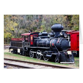 Cartão Trem do motor de carvão