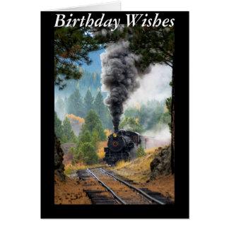 Cartão Trem do vapor