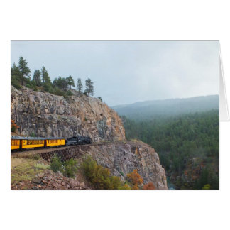Cartão Trem do vapor a Silverton
