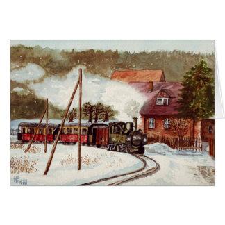 Cartão Trem europeu do vapor