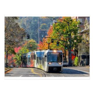 Cartão trem leve do trilho de Portland, Oregon