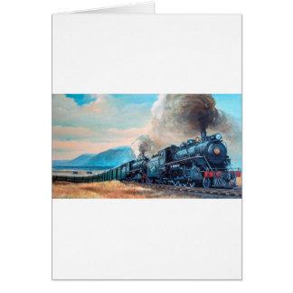 Cartão Trem locomotivo