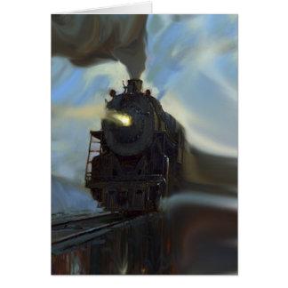 Cartão Trem refletido