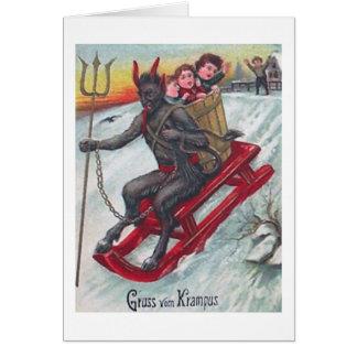 Cartão Trenó de Krampus