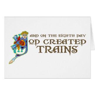 Cartão Trens criados deus