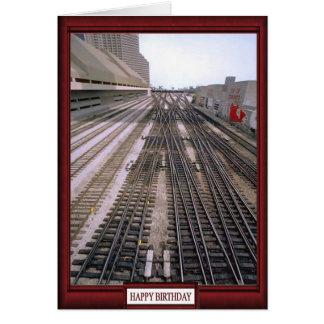 Cartão Trens e trilhas - o trilho adiante