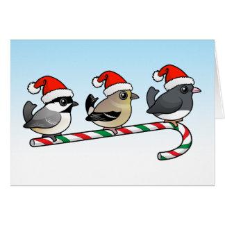 Cartão Três aves canoras do Natal (E.U.)