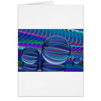 Cartão Três bolas de vidro na cor