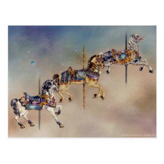 Cartão - três cavalos do carrossel