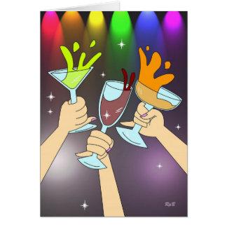 Cartão Três dos copos: Tempo do partido