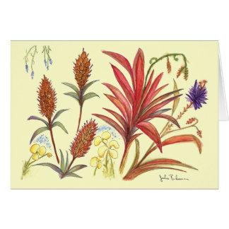 Cartão Três flores Spiky de surpresa