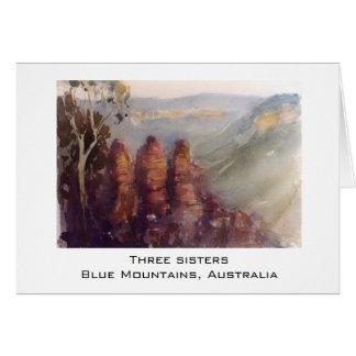 Cartão Três irmãs, montanhas azuis