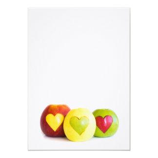 Cartão Três maçãs