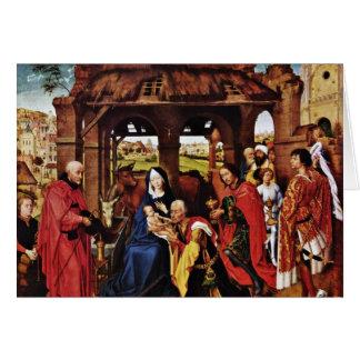 Cartão Três rei Altar, painel médio: Adoração