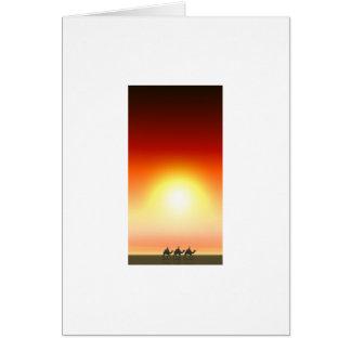 Cartão Três reis Por do sol 6